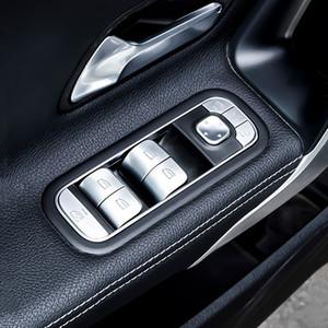 Elevación Car Styling ventana botones de cristal Lentejuelas vinilo decorativo para Mercedes Benz W247 W167 W177 W213 W205 GLB GLK GLS GLE
