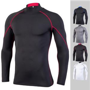 Desgaste de ciclo Elasti Fuerza de fitness Hombre de manga larga dryin rápida PRO medias Aire libre Movimiento Universal Sports ropa personalizada