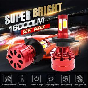 Мощный Коб Chips H4 H7 водить 4-х сторон 9005 HB3 H11 H8 P13W PSX24W лампы Автомобильные фары 16000LM 6500k тумана Свет Привет Низкий привело Automotivo