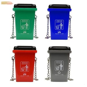 Personality Trash Can Ladies Shoulder Bag Creative Crossbody Bag Women 3D Trash Cans Messenger Bags Female Handbag
