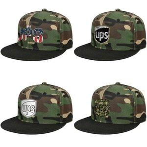 Personalizzato montato donna degli uomini protezione della visiera United Parcel Service retrò USA Snapbacks bandiera camuffamento piatto Brimmed Hip Hop Stampato benna cappello 3D