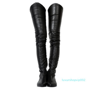 Hot Sale-ZDONE Ladies 2019 New Classic Thigh-high Boots Big Size Winter Long Booties Party Prom Fashion Warm Dress Evening Boots Shoes N079