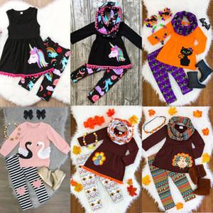Nouveau-né Infantil Tout-petit Enfant Bébés garçons Bébés filles unisexe Pull manteau à capuchon + Pantalons 2PCS Set Vêtements Outfit