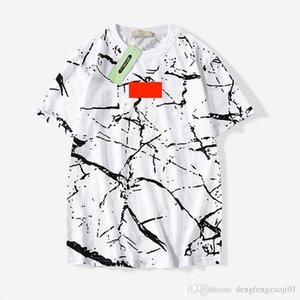Nueva moda de verano OFF camiseta de los hombres de color blanco Hip-hop camisa de la roca de la vaca de los hombres de moda camiseta diseñadores de camisetas sueltas nueva promoción del almacén