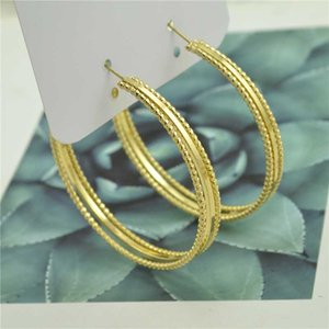 Women's earrings clipped on ears no need to pierce 2020 Fashion personality Female gift Gold plating trend Shiny DJ girl earring