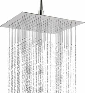 EUA Reino Unido STOCK 12' Chuveiro casa de banho cabeça quadrada de alta pressão de aço inoxidável rain água-Saving Showerhead