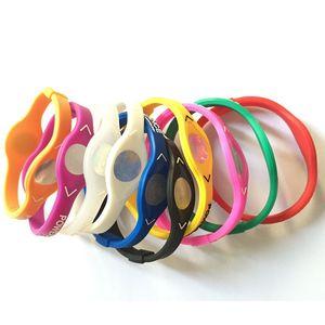 Silicone del braccialetto del polso Guardia cinghia di sostegno a mano Energia Anello Outdoor Sports Balance Wristband PB Party Band favore 33 colori DBC BH2913