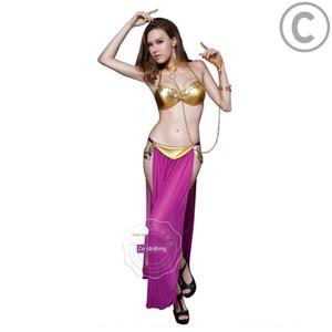 Dq2v2 SM espectáculo de danza del vientre de sexo femenino juego esclavo SM clothin rendimiento atractivo de la danza del vientre ropa sensual mujer pulsera pulsera esclava juego