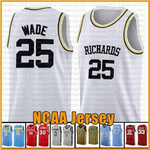 Белый 25 Уэйд Родман Ричардс Маркетт Золотые Орлы Джерси NCAA College Баскетбол Джерси 23 2 Леонард 3 Уэйд 11 Ирвинг 30 Карри