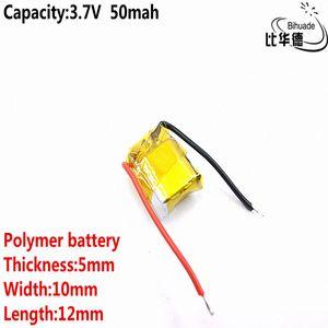 Piller Dijital Piller İyi Qulity 3.7V polimer lityum pil 50mah 501.012 i7 bluetooth kulaklık MP3-MP4 için uygundur