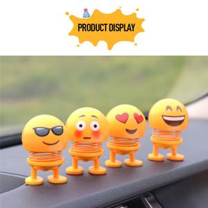 Adornos coche divertido juguete del resorte Accesorios Interior Emoji Shaker Auto Decoración mover la cabeza de la muñeca de la decoración del coche de juguete