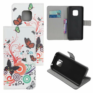 Printing Flower Patterns Wallel Flip PU Leather Protector Phone Case For Huawei Mate20 Lite Mate 20 Pro Y9 2019
