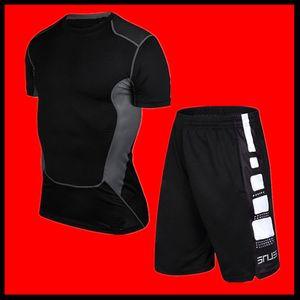 Yeni 2019 PRO spor t-shirt spor giyim erkek koşu eğitim tayt yaz ince spor kısa kollu çabuk kuruyan gömlek