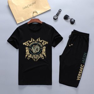 New 2020 designer tracksuit Set Fashion Running mens tracksuit Letter Slim Clothing Track Kit Medusa Luxury Sports Short sleeve Suit