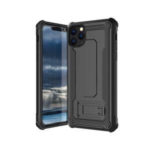 Броня случая телефона Невидимый кронштейн крышки TPU + PC 2 в 1 Защита от падения Shell для Iphone 11 PRO Max XR X XS 8Plus 6с плюс