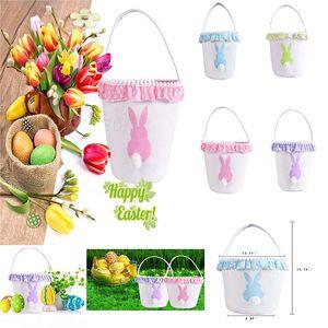 Morbido coniglio cestino borsa personalità borsa posteriore tela di cotone coniglio festa di nozze imballaggio del regalo di Natale sacchetto della caramella DA223