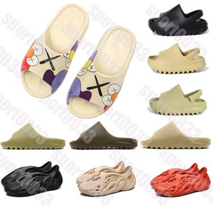 Kanye West Slippers,kid Kanye West Slides triple bone resin desert sand kanye west men women fashion slides sandals shoes
