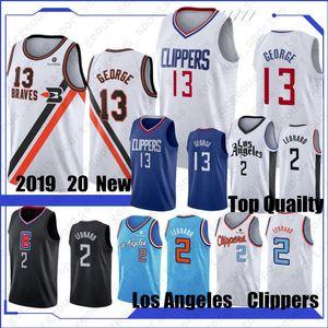 NCAA Kawhi 2Leonard Erkekler Basketbol Formalar Paul 13 George Basketbol Formalar Dikişli S-XXL In Stock 2019 Yeni Üst Kalite
