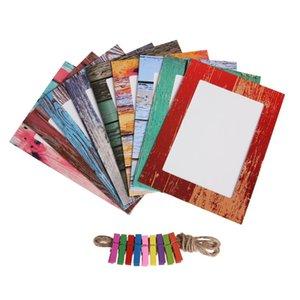 7INCH DIY صور الحائط الإبداعية الخشب ورقة الإطار شنقا إطارات المركبة الألبوم