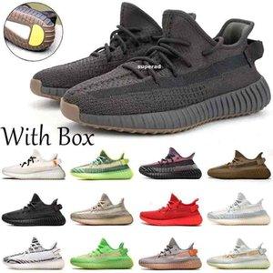2020 Earth Yeshaya Cinder Kanye West Desert Sage Reflective Mens Running Shoes Yecheil Yeehu Tailgate Marsh Black Angel Sneaker Size 36-45