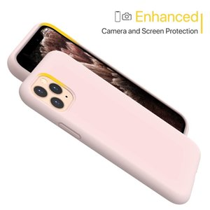Liquid Silicone Case For Apple iPhone 11 Pro Max X XS XR 8 Plus 7 6 6S Phone Cover with Original Official Logo Pink Accessories