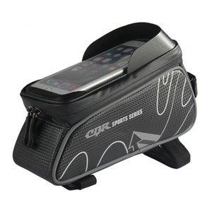Waterproof Bicycle Front Tube Bags 6 Inch Phone Touch Screen Bag Mountain Road Bike Top Front Tube Frame Bag Cycling Saddle Bag