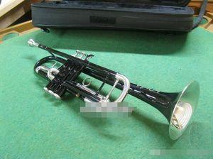 Brass Trompeta exquisito de la vendimia Negro Níquel cuerpo de plata Laca Llave B Instrumento Musical plana Júpiter JTR-1200 con boquilla 7C