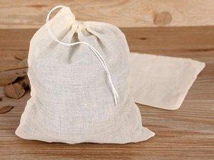500pcs NEW Cotton Muslin Drawstring Strainer Tea Spice Fruit Juice Food Separate Filter Bag For Drinking Tea Tools