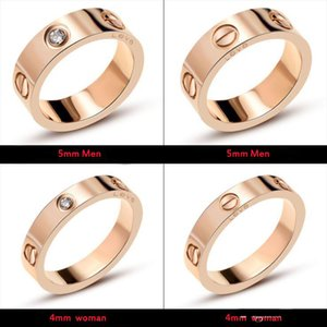 Classic luxury designer jewelry women ring with crystal mens gold rings stainless steel 18k love bracelet screw bangle bracciali