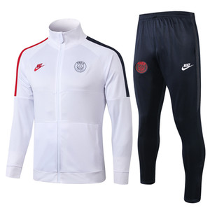 نوعية جيدة 19 20 باريس الرجال سترة 2019 باريس سان جيرمان لكرة القدم رياضية ملابس رياضية كافاني لكرة القدم جيرسي هوديي معطف Mbappe الغبار معطف سترة واقية