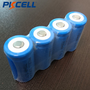 Batterie ricaricabili 5pcs Batterie PKCELL pile ricaricabili CR123A 16340 700mAh 3.7V ICR16340 Li-Ion per Torce