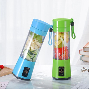 380ml Personal Blender Portable Mini Blender USB Coupe Juicer Presse-agrumes électrique Bouteille Fruit Outils de légumes avec 100pcs CCA12075 de transport maritime