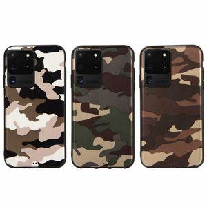 Camouflage-Telefon-Kasten für iPhone 11 Pro Max X XR XS 7 8 Plus Samsung S20 S10 Plus-note10 9 Armee grün weiche TPU rückseitige Abdeckung