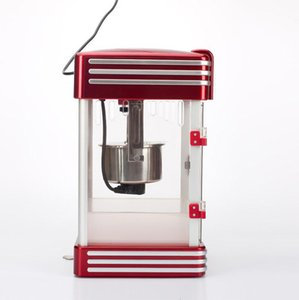 Sıcak satış Popcorn Makinası Retro Stil Popcorn Popper Küçük Popcorn Maker Makina Elektrik Isıtma Mısır Popper 220v.