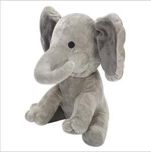Plush Elephant Dog Doll Toy Play Hide And Seek Baby Elephant Toy Ears Flaping Move Hide Seek elephant toy 23cm
