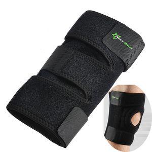 Ginocchio elastico Supporto per ginocchio Ginocchiera regolabile Rotula Ginocchiera Nastro benda da basket Escursionismo Running Knee Brace Safety Gear