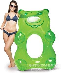 Промышленность ПВХ Надувной плавательный круг медведь плавать кольцо Вода Взрослые дети плавать кольцо Медведь Floating Row
