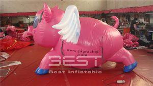 عملاق نفخ الخنزير الوردي لفي الهواء الطلق الإعلان نادي أحداث المرحلة الحزب ديكور جميل خنزير نفخ الوردي تحلق بأجنحة الكرتون