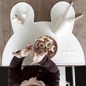 Lapin silicone Tapis Tapis napperon enfants serviettes de table Coaster plat protecteur Décoration Stand Cuisine Gadgets Dîner