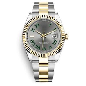 Movimiento automático superior del reloj V3 Barrido 2813 Reloj de pulsera automático Datejust Hebilla desplegable acero inoxidable del reloj de cierre original