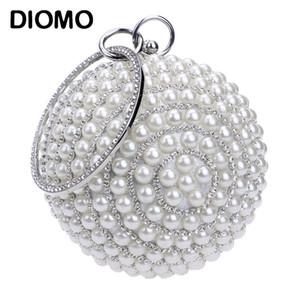 DIOMO neue Ankunfts-Frauen voller Perlen Quaste Abendtaschen Damen Kette Kupplungs-Geldbeutel Hochzeit Sphärische Bankett-Beutel