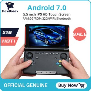 Cheap Handheld Game Players Powkiddy X18 Andriod handheld game console 5.5 inch 1280*720 screen MTK 8163 quad core 2G RAM 32G ROM