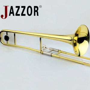 Professional JAZZOR JBSL-a700 Alto Trombone B Flat Gold Lacquer Brass trombone musical instruments with trombone mouthpiece