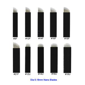 Extrêmement Mince 0.18mm Nano Lames Aiguilles Microblading Santé Maquillage Permanent Sourcil De Tatouage Aiguille Lame Microblade 3D Broderie