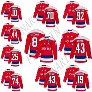 18-19 Stanley Cup Şampiyonlar Washington Capitals Hokeyi 8 Alex Ovechkin 77 TJ Oshie 70 Braden Holtby 43Tom Wilson 92 Kuznetsov hokey formaları