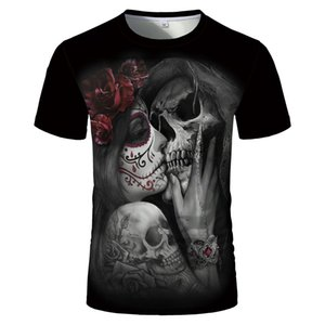 2020 hot trend men's and women's t-shirt skull digital 3D printed T-shirt 3D cartoon anime T-shirt size Kid1-4XL couple models