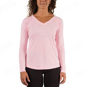 женская designerskin 50 + UPF sports outdoor V-образным вырезом с длинным рукавом палец кнопка солнцезащитный крем одежда ультрафиолетовая футболка