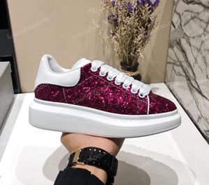 Дизайнер платформа Классической Повседневная обувь Мужская Женская Скейтбординг Обувь Кроссовки Glitter Shinny Heelback платье обувь теннис J2