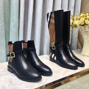 Fashion Martin Desert Boots Cowboy Fashion Luxury Boots Platform Lady Winter Boots Leather 5cm High Heel Flamingo Medal