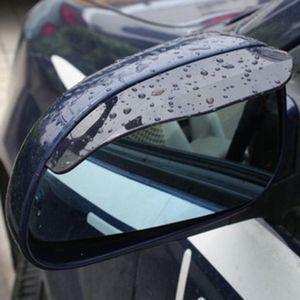 Car-styling 2x Car Side Mirror Universal Rain Shield Visor Guard Rear View Accessories dec25